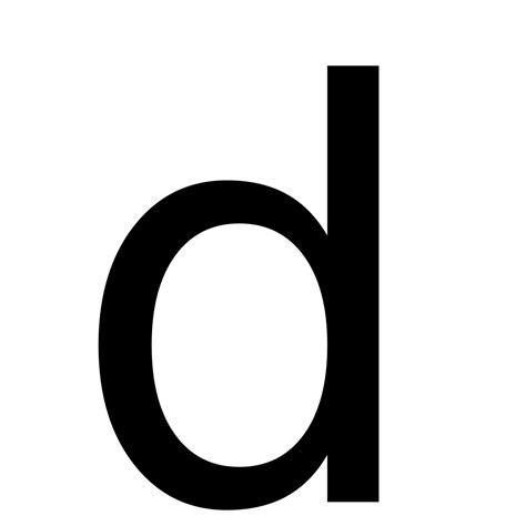 lettere d file letter d svg wikimedia commons