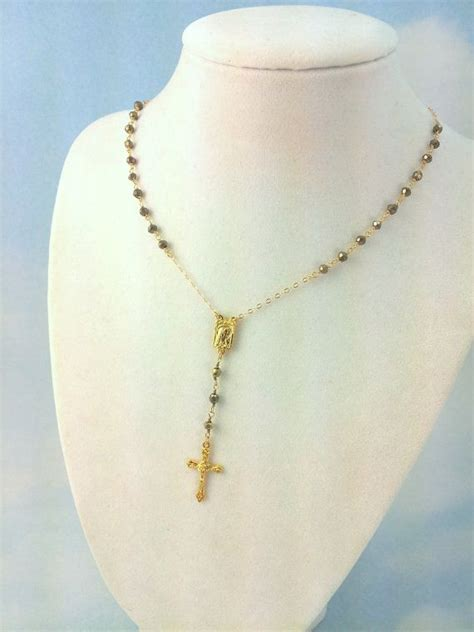 rosary necklaces like yolanda gold rosary necklace as seen on yolanda foster rachael