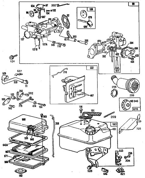 5hp briggs and stratton carburetor diagram 5 hp briggs and stratton engine diagram 5 get free image