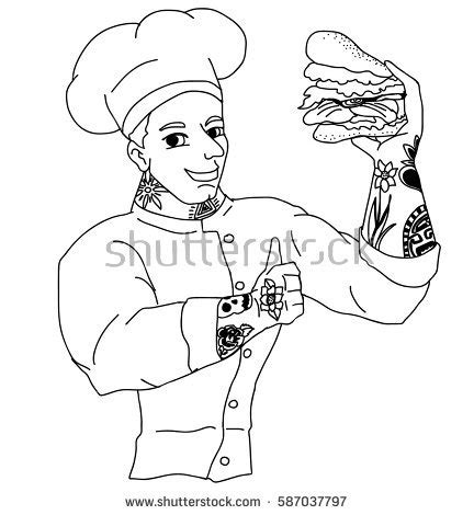 tattoo chef cartoon cook stock illustration 429356 shutterstock