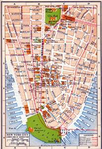 Where Is New York City On A Map by Old Detailed Road Map Of New York City Of Lower Manhattan