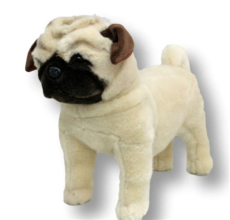 pug soft pug standing stuffed animal soft plush new 16 quot 40cm pugley ebay