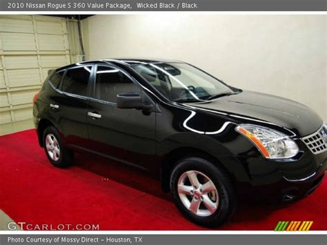 black nissan rogue 2010 black 2010 nissan rogue s 360 value package