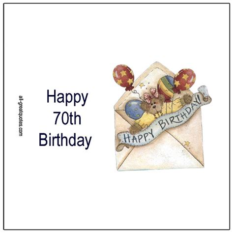 Free 70th Birthday Cards
