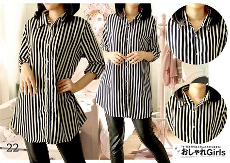 Kaos Salur 4 5 6 jual kemeja salur wanita dengan motif garis harga murah jakarta oleh toko unix by j ross