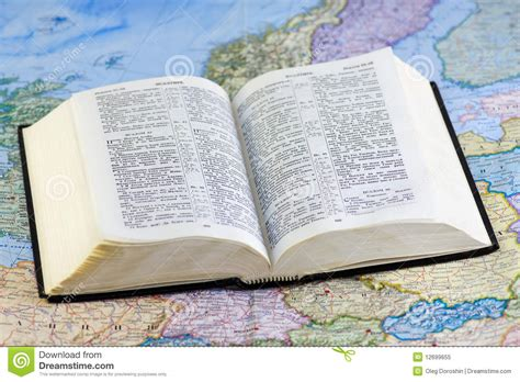 the bible to business credit how to get 50 000 in less than 6 months to build your business books open bible on the map royalty free stock photo image