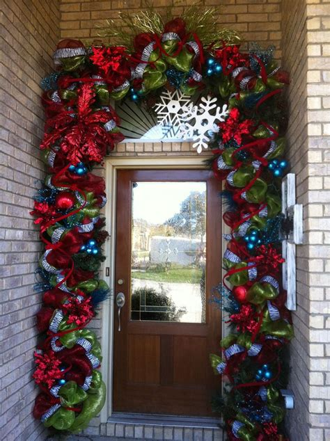 christmas door decor christmas pinterest