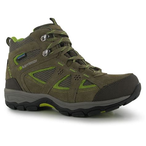 best womens hiking boots karrimor mountain mid top walking boots womens taupe green