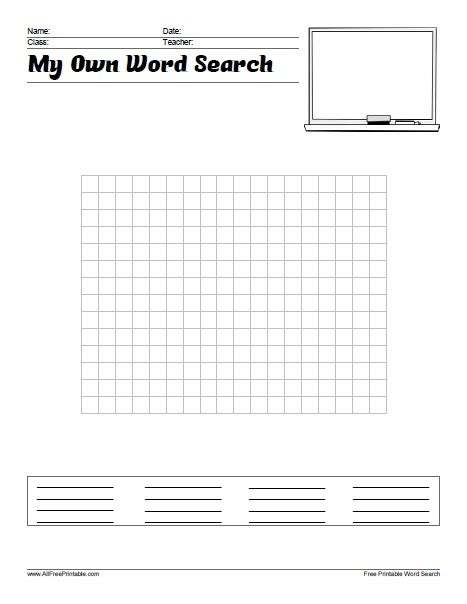 make own word search make your own word search free printable