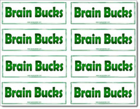 brain bucks freebie classroom freebies