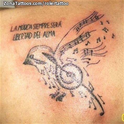 imagenes de frases musicales tatuaje de rolertattoo notas musicales aves frases tattoo