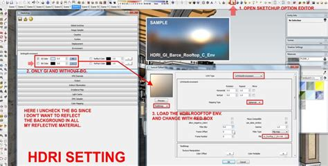 tutorial setting hdri vray sketchup making of old town day night and npr sketchup 3d
