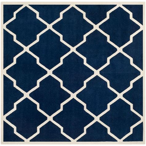 Square Area Rugs 9 X 9 Safavieh Chatham Blue Ivory 9 Ft X 9 Ft Square Area Rug Cht735c 9sq The Home Depot