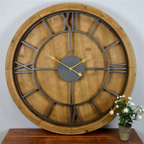 Extra Large Wall Clock by Solid Wood Wall Clock By The Orchard Notonthehighstreet Com