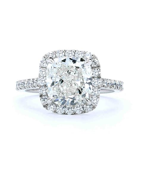 Cushion Cut Engagement Rings by Cushion Cut Engagement Rings Martha Stewart Weddings