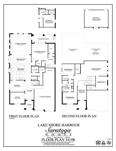 First Texas Homes Floor Plans Plan 3419 Saratoga Homes Houston