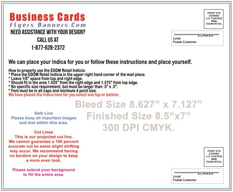 usps business reply card template usps eddm template templates station
