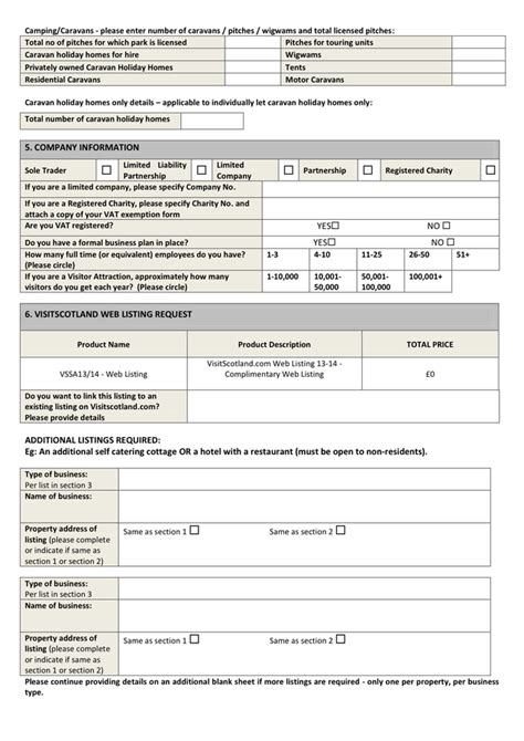 blank booking form template in word and pdf formats page