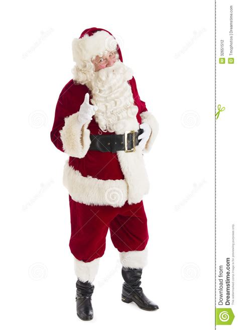 portrait of santa claus pointing stock photo image 32651512