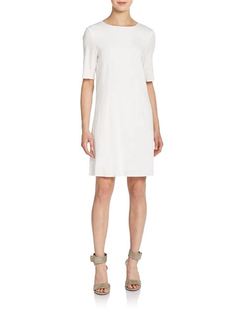 Vans Dinda Fashion theyskens theory dinda sheath dress in white lyst