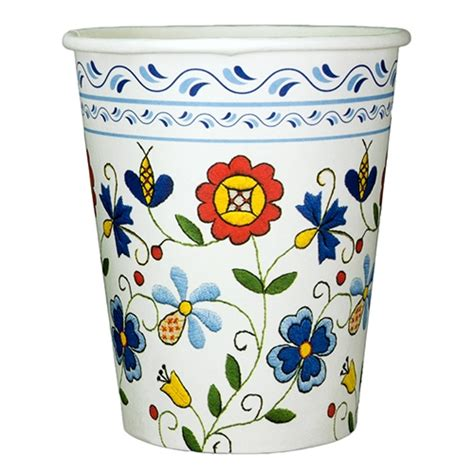 pattern paper cup polish art center polish hot cold paper cups kashubian