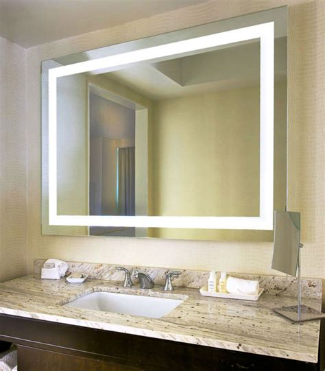 lighted mirrors for bathroom bagen luxury bathroom mirror with led light decorative