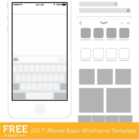ios wireframe template ios 7 basic iphone wireframe template