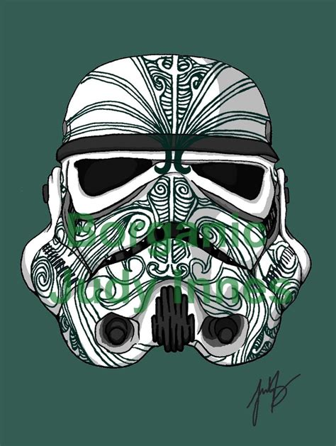 star wars tribal tattoo stormtrooper moko wars episode 7 the awakens