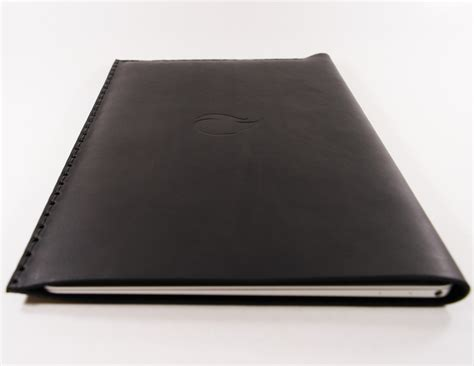 Black Sleeve For 12 Macbook 12 inch macbook black thick leather sleeve by firecult