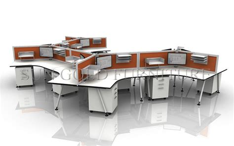 Office Desk Types Modern Curved Wooden Office Working Table S Shape Cubicle Low Partion Desk Sz Ws927 Buy S