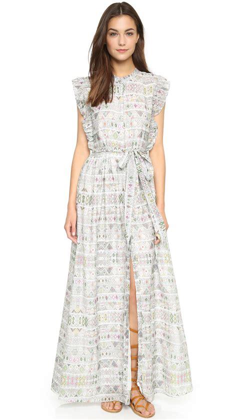 Sinta Dress Maxy lyst carolina k santa maxi dress white in white