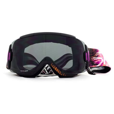snow goggles smith squad snow goggle sunset palms blackout snow