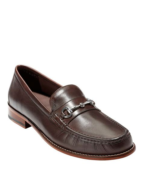 bit loafers cole haan britton bit loafer in brown for lyst