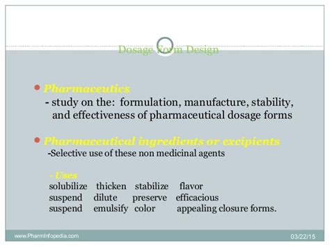 design dosage form dosage form design