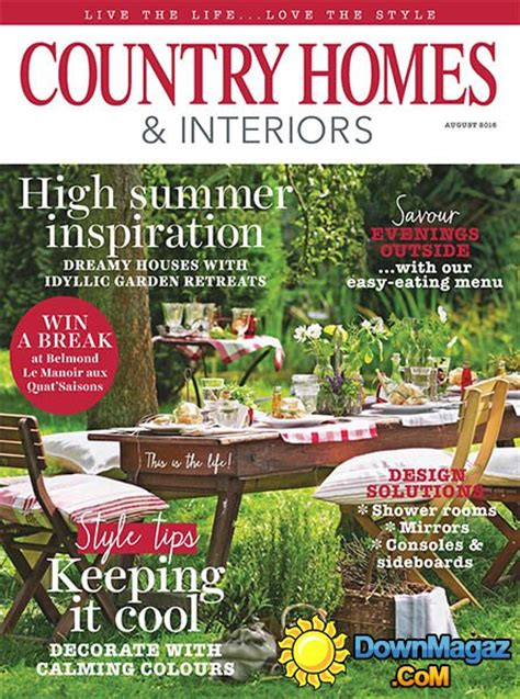 country home design magazines country homes interiors august 2016 187 download pdf