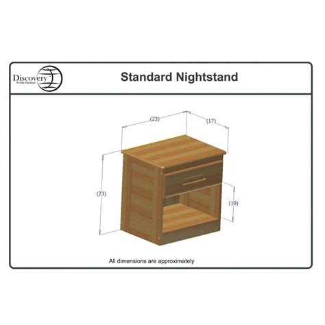 nightstand dimensions standard two honey captains beds one honey nightstand