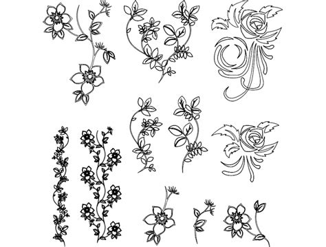 flowers vector dxf file   axisco