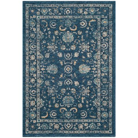 Navy And Beige Area Rugs Safavieh Navy Beige 5 Ft 1 In X 7 Ft 6 In Area Rug Car279g 5 The Home Depot