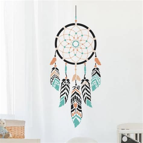 Large Wall Mural Decals dream catcher stencil for nursery walls beautiful
