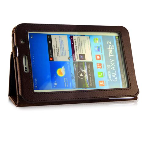 Flip Cover Samsung Tab 2 7 inch leather tablet stand flip cover for samsung