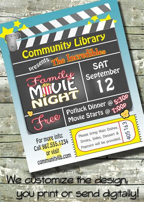 movie night birthday party church or community event