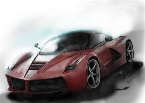 supercar drawing how to draw the supercar laferrari digitally