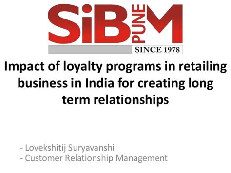 Term Mba Courses In India by Impact Of Loyalty Programs In Retailing Business In India