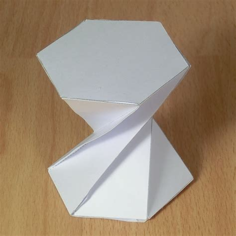 How To Make A Hexagonal Prism Out Of Paper - twisted hexagonal prism 180 degrees origami