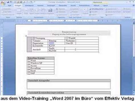 Word Vorlage Pflichtenheft Word 2007 Formular Erstellen Www Effektiv Verlag De
