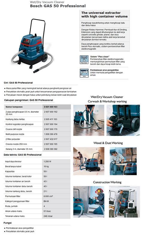 Vacuum Cleaner Bosch Gas 50 vacuum cleaner bosch gas 50 automega automotive equipment