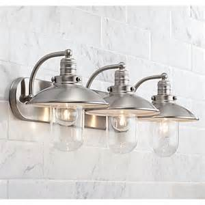 bathroom light fixtures pictures downtown edison 28 1 2 quot wide brushed nickel bath light