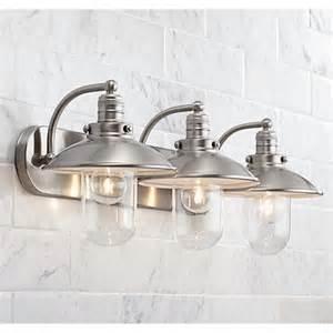 Ls Plus Bathroom Vanity Lights Downtown Edison 28 1 2 Quot Wide Brushed Nickel Bath Light 2y639 Ls Plus