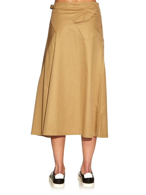 Buttoned Midi Skirt lyst y s yohji yamamoto buttoned front flared cotton