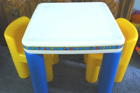 toddler table and chairs tikes tikes child size table 2 chairs up il euc